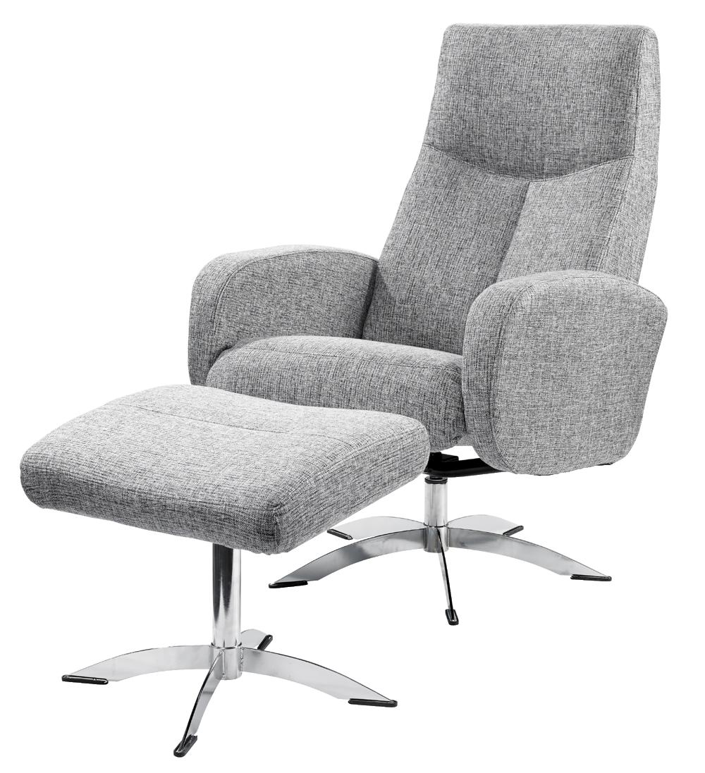 Lænestole med puf