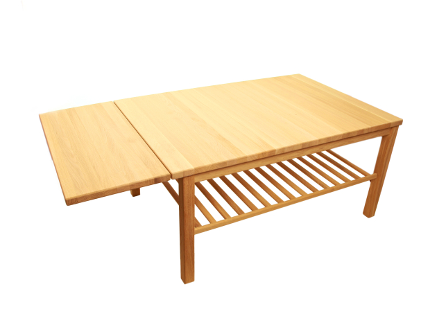 ND Sofabord Med hylde og Klap - Danbo Møbler